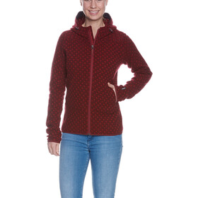 Tatonka Kolma Capuchon Jas Dames, cherry red